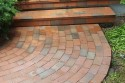 Walk covered with paving brick