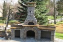 Front of the Beautiful Birch Lake Bake oven by Stichter & Sons Masonry.