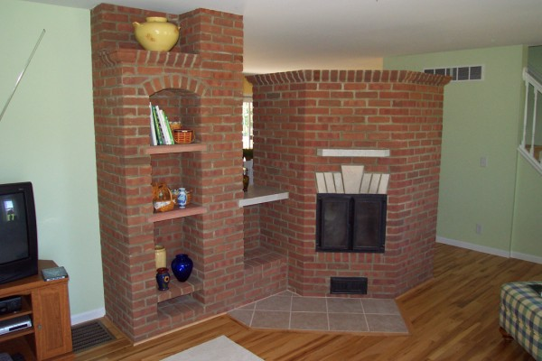 5 Sided Masonry Heater From Living Room Side