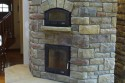 Thin Veneer 5 Sided Masonry Heater by Stichter & Sons Masonry. Milford, Indiana. Call (574) 658-4239